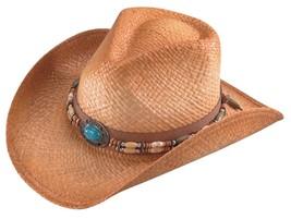 NEW Henschel Hats Raffia Straw WEEKEND WALKER Shapeable Western Cowboy H... - £32.02 GBP