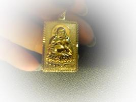 Haunted Rare Egyptian Marid Temple Djinn, Female  9 K Gold Overlay Lovely Power - $49.99