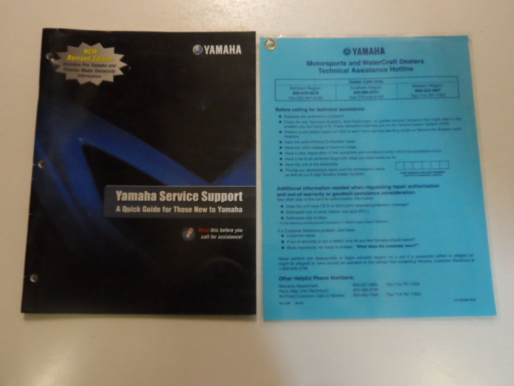 2009 Yamaha Service Support Brochure Manual FACTORY OEM BOOK 09 DEALERSHIP - $13.42