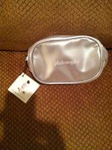 Philosophy  SILVER Zippered Makeup Small Cosmetic /Makeup Bag image 2