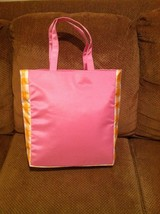 Clinique XLarge Baby Pink Padded Fold Up Tote Gym Shopper Beach Bag BRAN... - $24.74