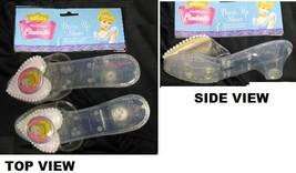CINDERELLA PLASTIC GLITTER SHOES CHILD'S ONE SIZE - $13.00