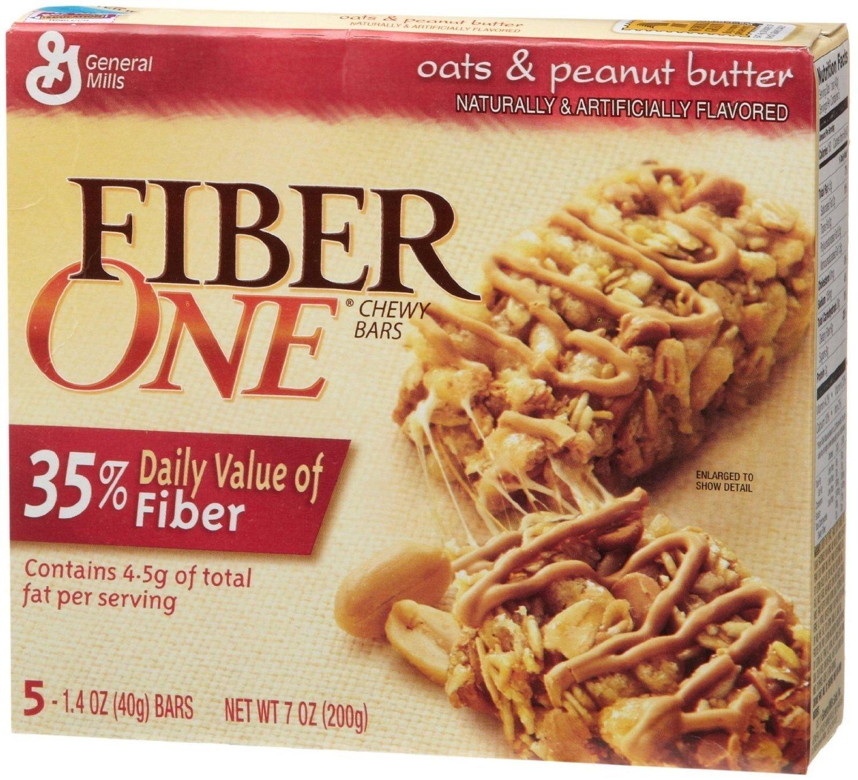 Fiber One Granola Bars, Oats & Peanut, 7 Oz / 200 G