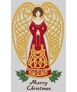 Celtic Christmas Angel cross stitch card chart Artist's Alley  - $9.00