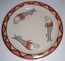 AFRICA DEDZA NKHOTAKOTA POTTERY MALAWI CERAMIC PLATE - $31.29