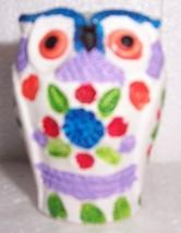 ALDO LUNDI MULTI-COLORED CERAMIC OWL POTTERY ART - $74.71