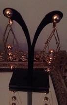Vintage Signed Marino Clip/screwback Modernist Goldtone Earrings - $14.49