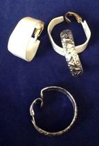 2 Pair Vintage Lewis Segal Hoop Earrings Enamel Silvertone Clip - $12.59