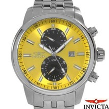 $595 Invicta Specialty Chrono Month/Hour/Date Yellow/Black Stainless Steel Watch - $379.99