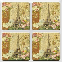 Vintage paris design  set of 4  Rubber Drink Co... - $10.00