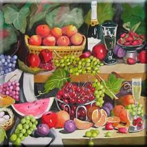 Decorative Ceramic tile 4.25 X 4.25 inch, Illustration Fruit Painting #1 - $7.00
