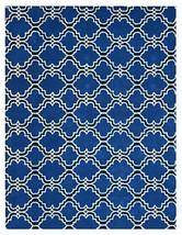 Brand New Scroll Tile Indigo 5x8 Persian Style Woolen Area Rug - $369.00