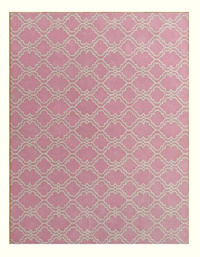 Brand New Scroll Tile Pink 5x8 Kids Persian Style Woolen Area Rug - $369.00