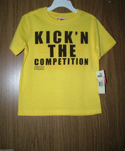 Puma Toddler Boy Athletic, Logo/Graphics, S/Sleeves Tee, Yellow Color, Sz.4. NWT - $12.99