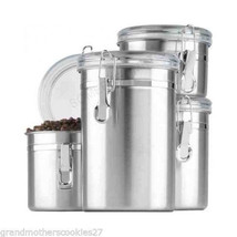 Kitchen Canisters Pieces Stainless Close Storag... - $39.08
