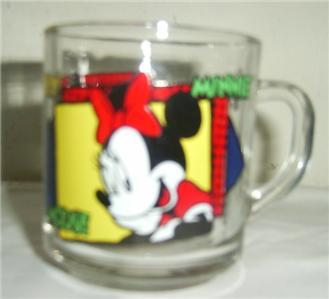 ANCHOR HOCKING DISNEY MICKEY & MINNIE MOUSE GLASS  MUG