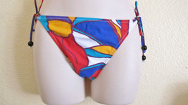Nwt Red Carter Designer String Swimsuit Bikini Bottom Sz L Large Print B... - €14,84 EUR