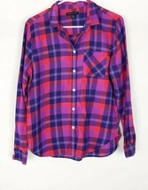 American Eagle Outfitters Flannel Plaid Long Sleeve Button Down Shirt Womens M - $19.79