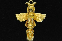 10K Yellow Gold Houston Alaska Totem Pole Pendant - $165.00