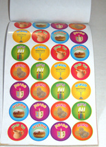 Judaica Scrapbook Hanukkah Creation 270 Stickers Booklet Children Teaching Aid image 3
