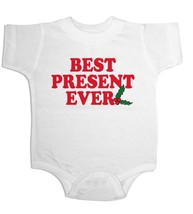 Christmas Onesie Best Present Ever Holiday Creeper Cute Baby Gifts Cheap Gifts - $14.99