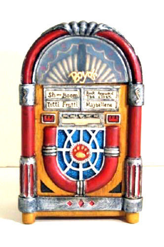 "Boyds Bears Accessory- ""Baileys Juke Box"" Style #658225 -New- 2007-Retired"