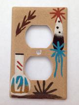 Navajo Handmade Sand Painting White Vase & Feat... - $14.99