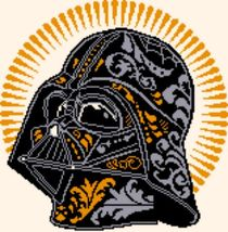 Latch Hook Rug Pattern Chart: DARTH VADER -EMAIL2u - $5.75