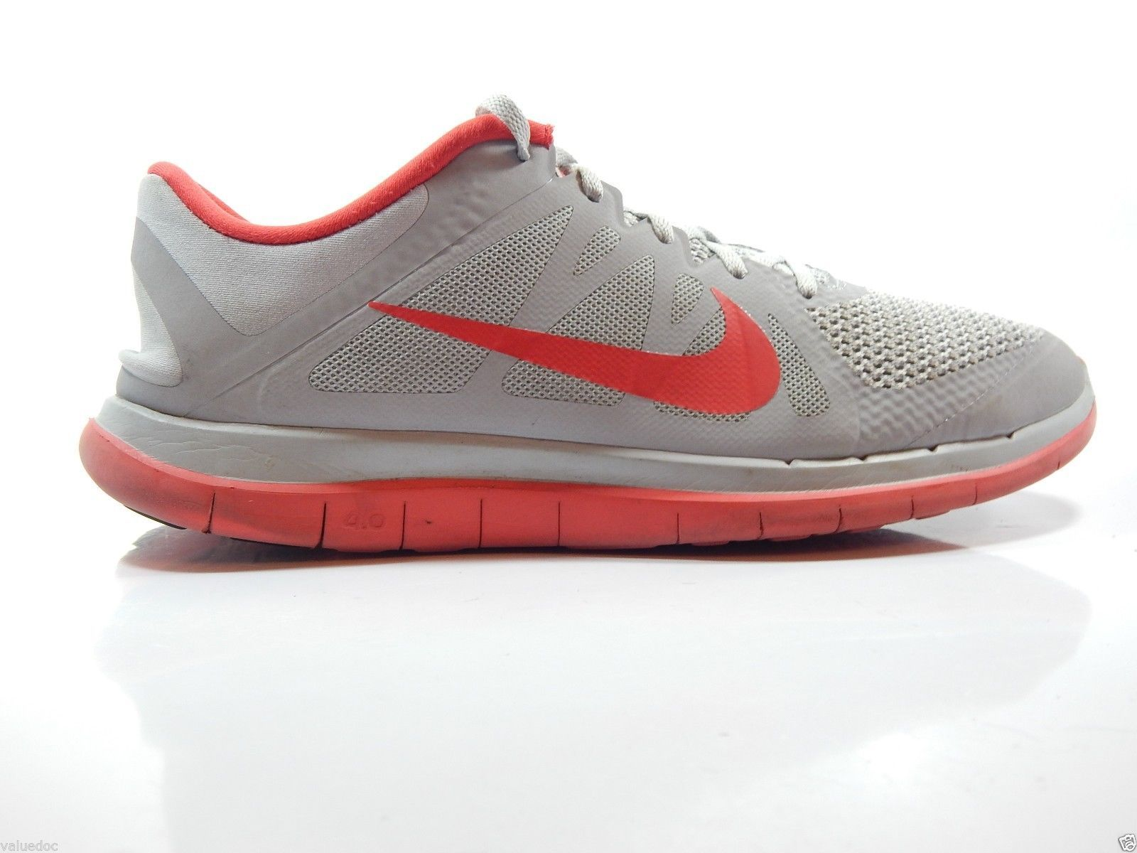 Nike Free 4.0 Mens Running Shoes Size US 12 M ( D ) EU 46 Grey Red