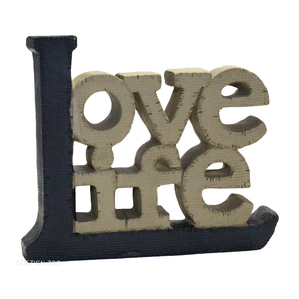 Love Life - Blossom Bucket Inspirational 3D Resin Tabletop Sign