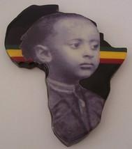 Africa Plaque of Ras Tafari (Haile Selassie) Rasta Bob Marley Jamaica Et... - $75.96
