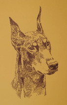 DOBERMAN PINSCHER DOG ART PRINT #83 Kline adds your dogs name free. GREA... - $49.95
