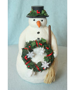 Hallmark Marjolein Bastin Snowman with Wreath and Broom - $12.99