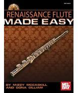 Renaissance Flute Made Easy Book w/CD Set  - $16.99