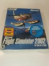 Microsoft Flight Simulator 2002 As Real As It Gets ~ 3 Disk Set In Origi... - $17.77