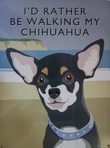 Walking Chihuahua Metal Sign - $18.95