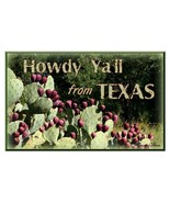 Greeting Card from Texas with Prickly Pear - $3.50