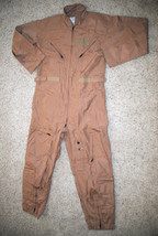 NEW US AIR FORCE TAN NOMEX FIRE RESISTANT FLIGHT SUIT CWU-27/P - 42R - $98.18