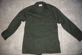 NEW US ARMY 1981 SHIRT MEN'S UTILITY LONG SLEEVES SHADE 507 - 14 1/2 X 31 - $37.40