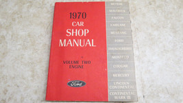 Ford 1970 Car Shop Manual Volume Two Engine  239 - $23.36