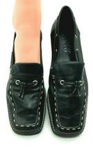 Franco Sarto Women's  Contrast Career Loafers Black 8M Genuine Leather  1008 - $12.98