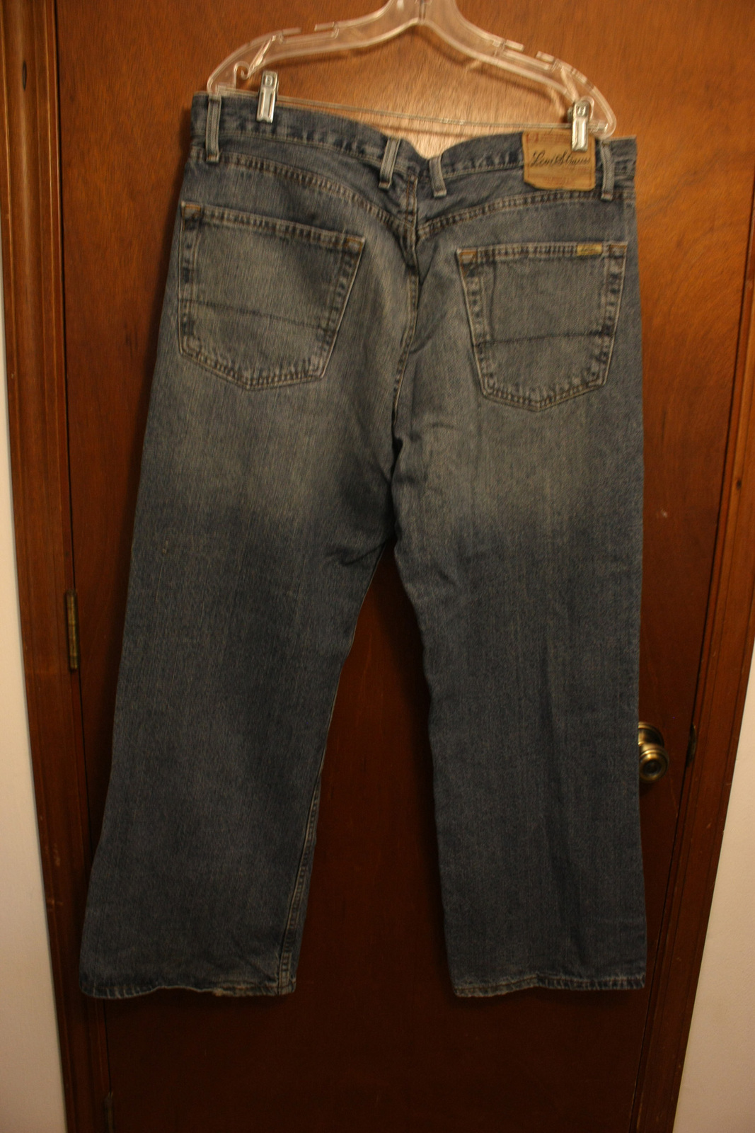 mens levi strauss loose boot cut jeans 38w jeans