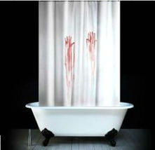 Bloody Hand Print Design 180 X 180 Cm Bathroom Use Polyester Shower Curtain Set - $29.99