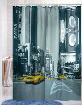 Business Building & Yellow Cab 180 X 180cm Bathroom Polyester Shower Curtain Set - $29.99