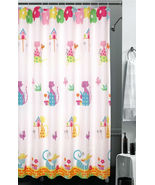 CARTOON CAT Color Design 180 x 180 cm POLYESTER Bathroom Use SHOWER CURT... - $26.99