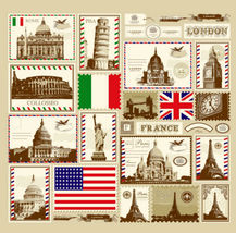 Colorful Different Stamp Cool Design 176 X 178 Cm Bathroom Use Shower Curtain - $29.99