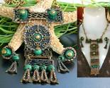 Vintage casa maya mexico necklace earrings mixed metal set signed thumb155 crop
