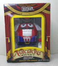 Nutcracker Sweet RED M&M'S Chocolate Candy Dispenser NEW BOX Christmas - $26.99