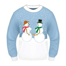 F69540 (Std L 42-44) Christmas Sweater Snowman Couple - £30.35 GBP