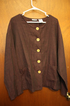 White Stag Burgundy Button Down Cover UP Women's XL (16/18) - $10.99